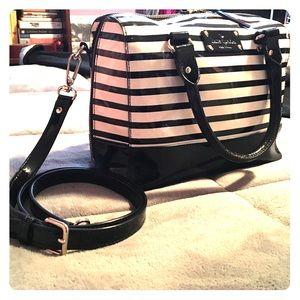 Kate Spade Wellesley Stripe Patent Leather Satchel